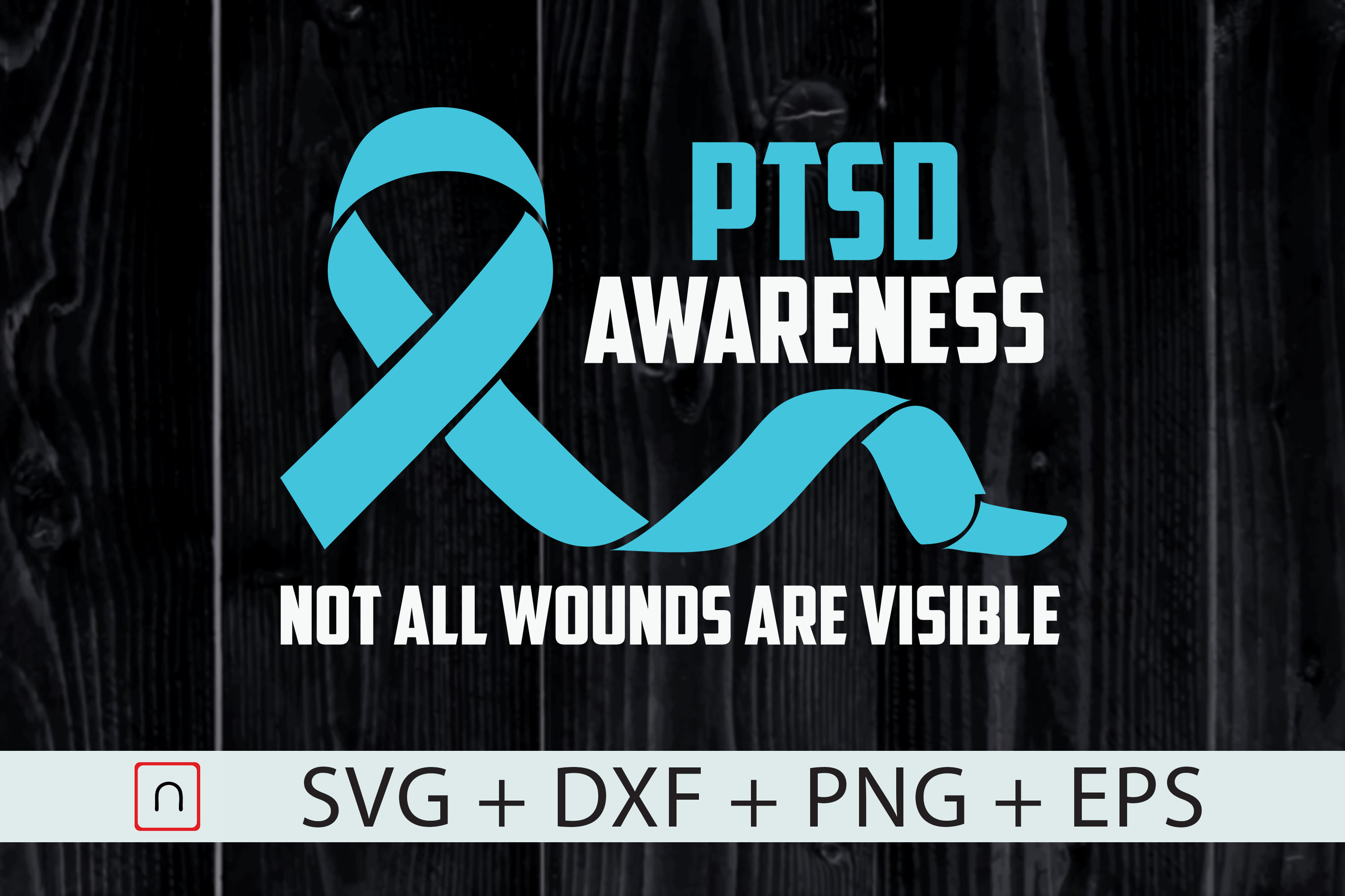 Download Free Awareness Not All Wounds Visible Graphic By Novalia Creative for Cricut Explore, Silhouette and other cutting machines.