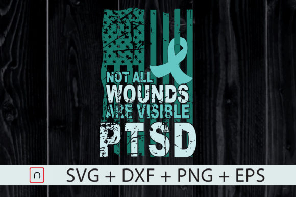 Print on Demand: PTSD I Wear Teal Support the Troops Graphic Print Templates By Novalia