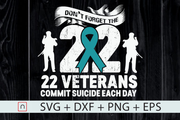 Download Free Ptsd Awareness 22 Veterans Ptsd Warrior Graphic By Novalia for Cricut Explore, Silhouette and other cutting machines.