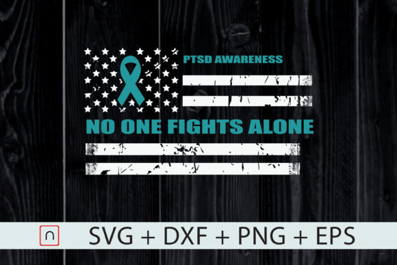 Download Free Ptsd Awareness Teal Ribbon Us Flag Graphic By Novalia Creative for Cricut Explore, Silhouette and other cutting machines.