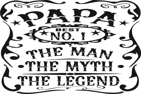 Papa Man Myth Legend Graphic Illustrations By easedesignstudio