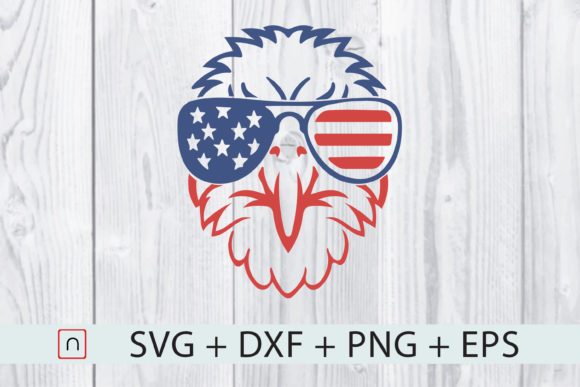 Print on Demand: Patriotic Eagle 4th of July USA Flag Graphic Print Templates By Novalia