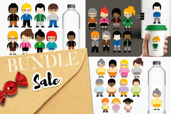 Print on Demand: People and Teacher Bundle Graphic Illustrations By Revidevi