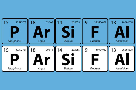 Download Free Periodic Table Parsifal Wagner Vector Graphic By Graphicsfarm for Cricut Explore, Silhouette and other cutting machines.