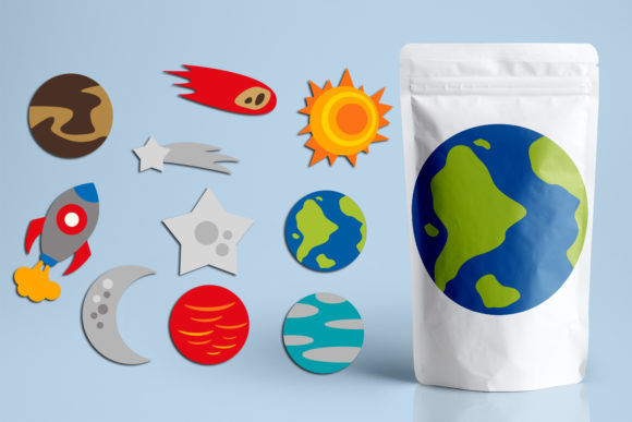 Planets and Stars Bundle Graphic Download