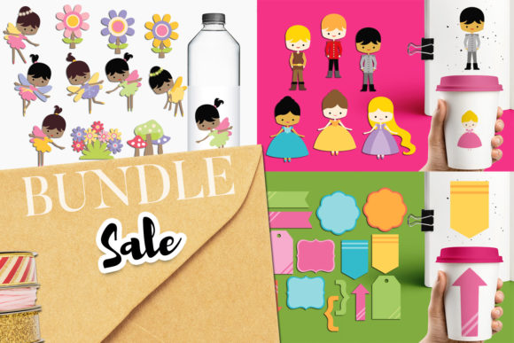 Print on Demand: Princess and Fairy Bundle Graphic Illustrations By Revidevi