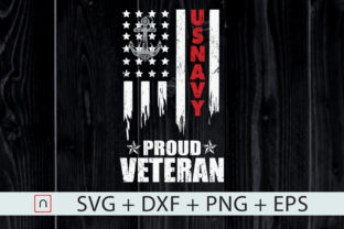 Print on Demand: Proud Veteran US Navy Flag Distressed Graphic Crafts By Novalia