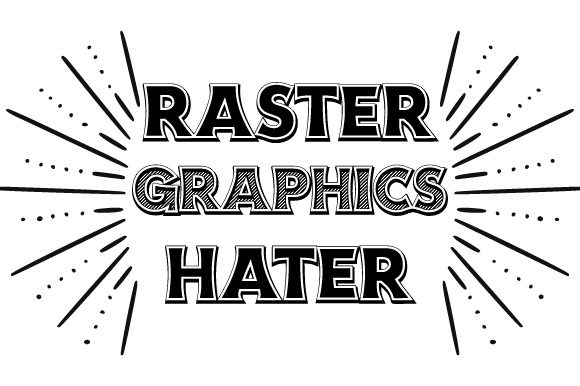 Download Free Raster Graphics Hater Quote Vector Graphic By Graphicsfarm for Cricut Explore, Silhouette and other cutting machines.