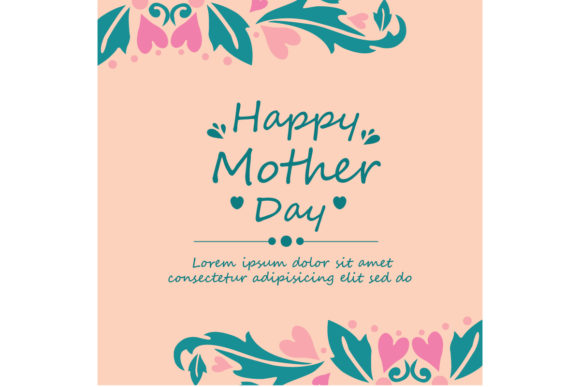 Romantic Happy Mother Day Card Design Graphic Backgrounds By stockfloral