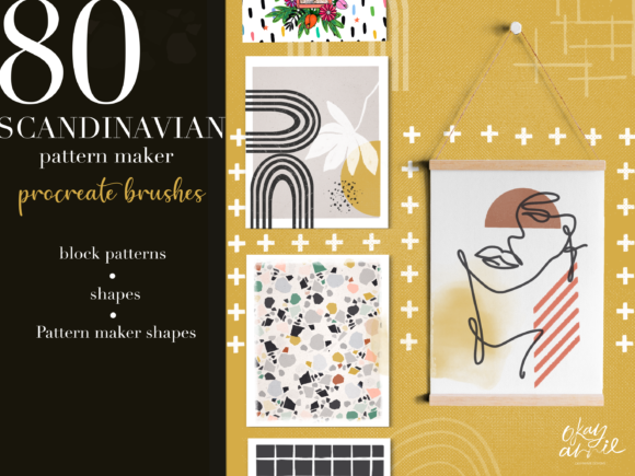 Download Free Scandinavian Brushes For Procreate Graphic By Okayannie Designs for Cricut Explore, Silhouette and other cutting machines.