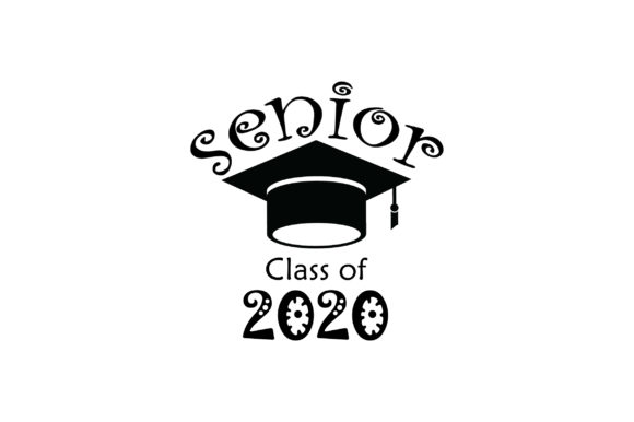 Download Free Senior Class Of 2020 Graphic By Fauzidea Creative Fabrica for Cricut Explore, Silhouette and other cutting machines.