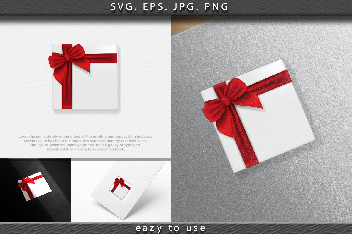 Download Free Set Of Gifts Box Collection Realistic G Graphic By Ojosujono96 for Cricut Explore, Silhouette and other cutting machines.
