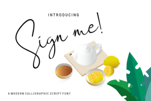 Download Free Sign Me Font By Nabarya Business Creative Fabrica for Cricut Explore, Silhouette and other cutting machines.