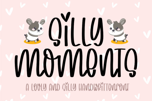 Print on Demand: Silly Moments Script & Handwritten Font By BitongType