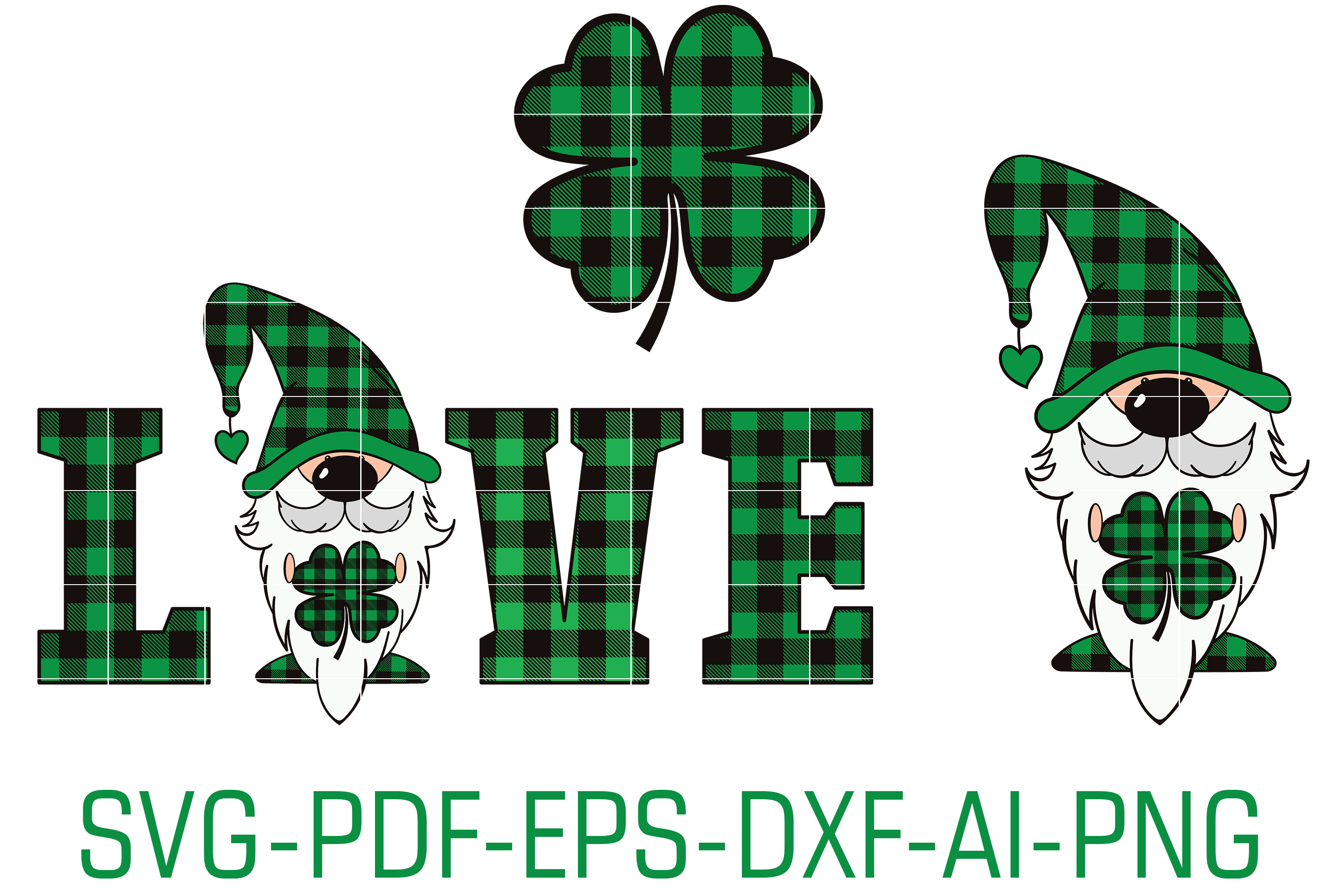 Download Free St Patrick S Gnome Vector Files Graphic By Foundream Creative for Cricut Explore, Silhouette and other cutting machines.