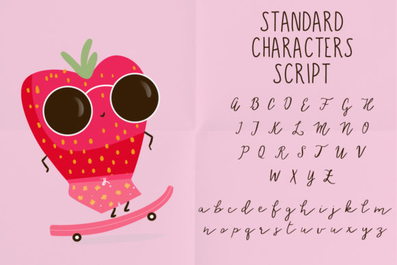 Download Free Strawberry Love Font By Just Bia Creative Fabrica for Cricut Explore, Silhouette and other cutting machines.