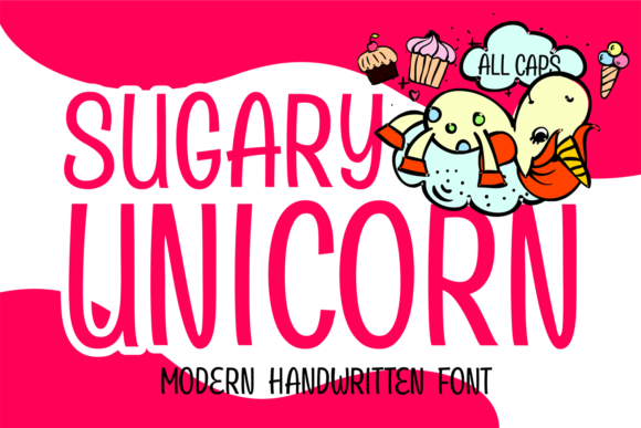 Download Free Sugary Unicorn Font By Brithostype Creative Fabrica for Cricut Explore, Silhouette and other cutting machines.