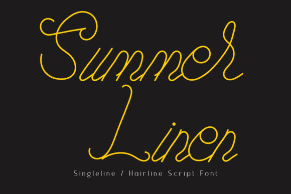 Print on Demand: Summer Linen Script & Handwritten Font By setiyadissi