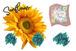 Print on Demand: Sunflower from the Side Graphic Nature By Lucy Kate Design
