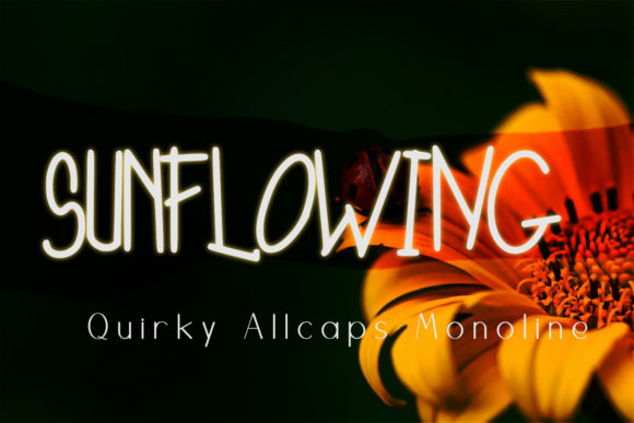 Download Free Sunflowing Font By Setiyadissi Creative Fabrica for Cricut Explore, Silhouette and other cutting machines.