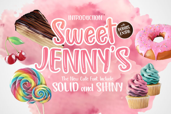 Print on Demand: Sweet Jenny's Sans Serif Font By Herry Renovsetyawan - Image 1