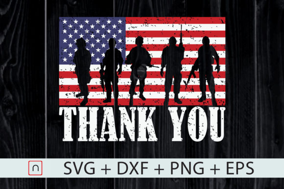 Download Free Thank You Veterans Usa Flag Patriotic Graphic By Novalia for Cricut Explore, Silhouette and other cutting machines.
