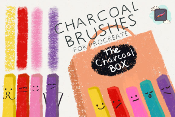 The Procreate Charcoal Box Graphic Brushes By Just Bia