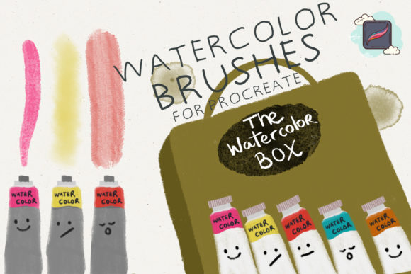 The Procreate Watercolor Box Graphic Brushes By Just Bia