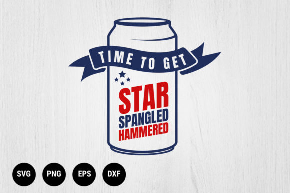 Download Free Time To Get Star Spangled Hammered Graphic By 99 Siam Vector for Cricut Explore, Silhouette and other cutting machines.