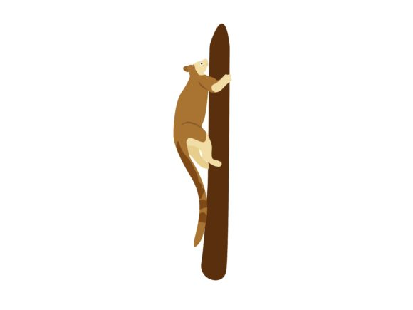 Download Free Tree Kangaroo Climb Up Animal Graphic By Archshape Creative for Cricut Explore, Silhouette and other cutting machines.