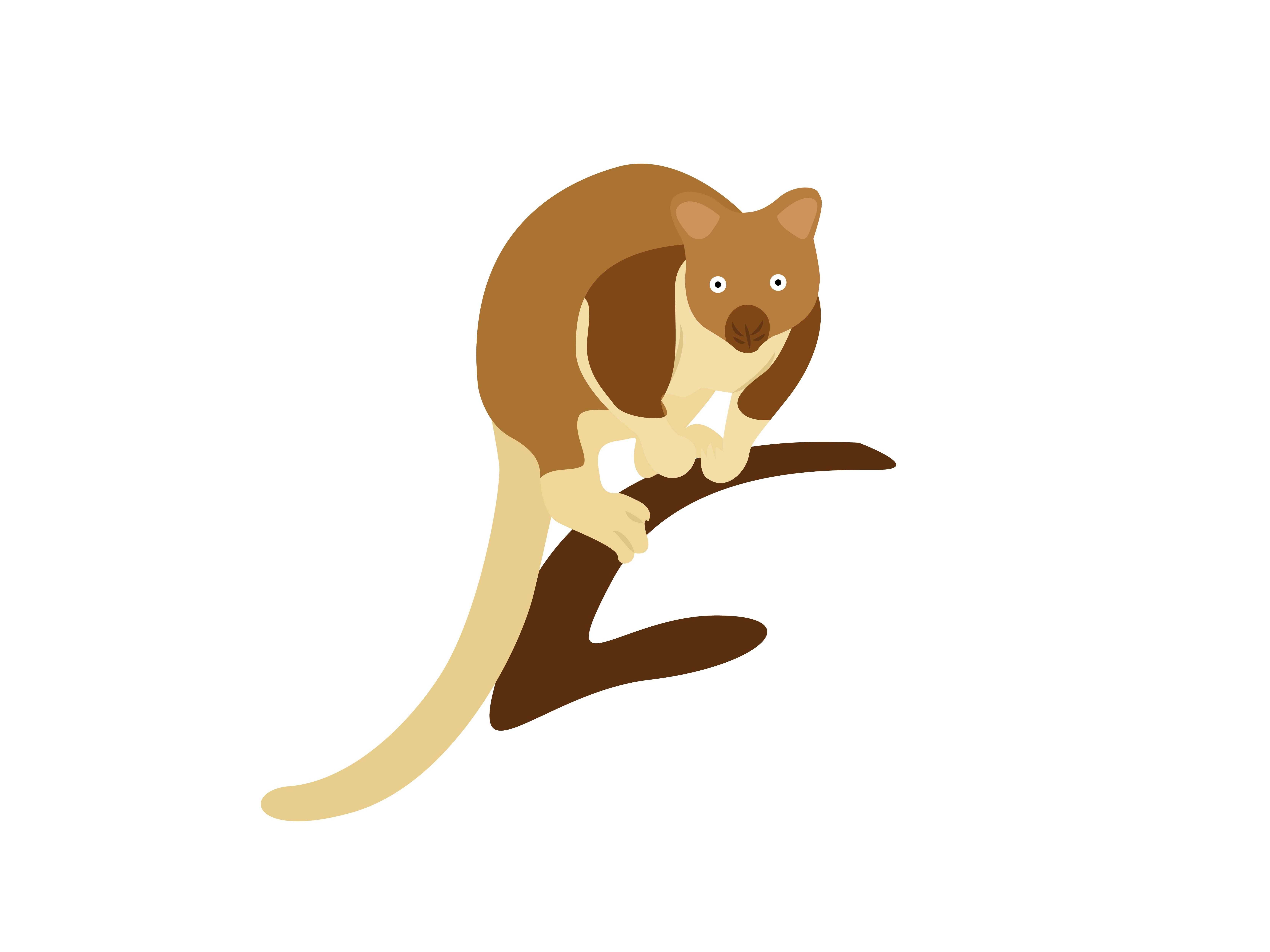Download Free Tree Kangaroo Standing Animal Graphic By Archshape Creative for Cricut Explore, Silhouette and other cutting machines.