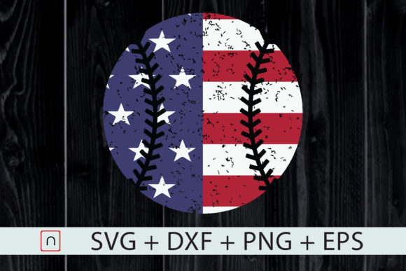 Print on Demand: USA Flag Baseball Patriotic 4th of July Graphic Crafts By Novalia