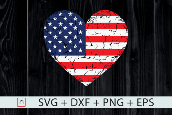 Download Free Usa Flag Heart 4th July Red White Blue Graphic By Novalia for Cricut Explore, Silhouette and other cutting machines.