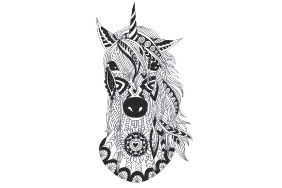 Unicorn 2 Horses Embroidery Design By BabyNucci Embroidery Designs