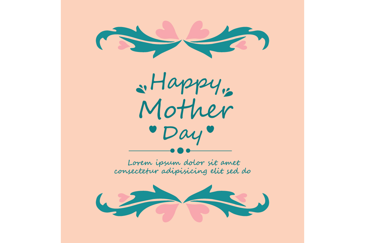 Download Free Unique Happy Mother Day Card Design Graphic By Stockfloral for Cricut Explore, Silhouette and other cutting machines.