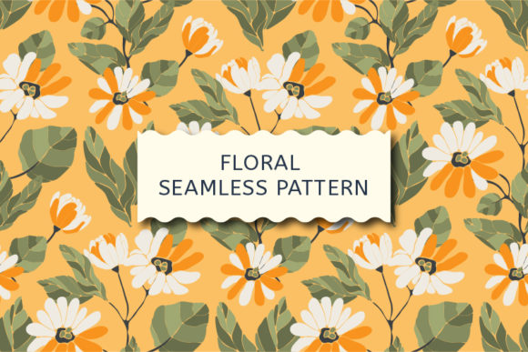 Download Free Vector Yellow Floral Seamless Pattern Graphic By Kazakova O for Cricut Explore, Silhouette and other cutting machines.