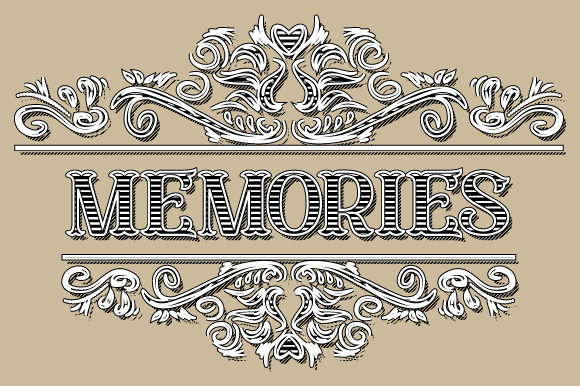 Download Free Vintage Memories Ornament Frame Vector Graphic By Graphicsfarm for Cricut Explore, Silhouette and other cutting machines.