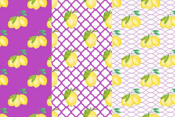 Download Free Watercolor Lemons Digital Papers Graphic By Bonadesigns for Cricut Explore, Silhouette and other cutting machines.