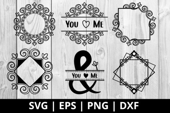 Download Free Wedding Monogram Frame Vector Graphic By Damasyp Creative Fabrica for Cricut Explore, Silhouette and other cutting machines.