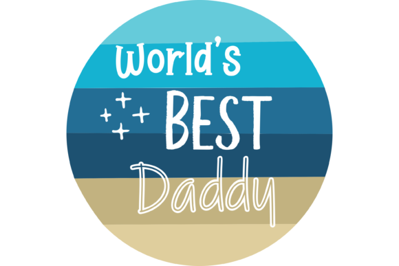 Download Free Worlds Best Daddy Father S Day Graphic By Am Digital Designs for Cricut Explore, Silhouette and other cutting machines.