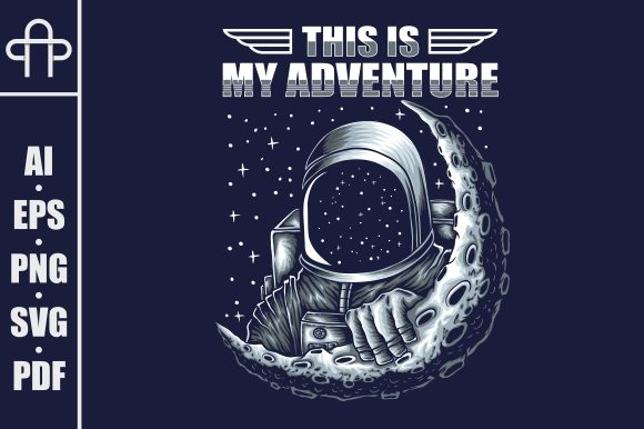 Print on Demand: Adventure Astronaut Vector Illustration Graphic Illustrations By Andypp