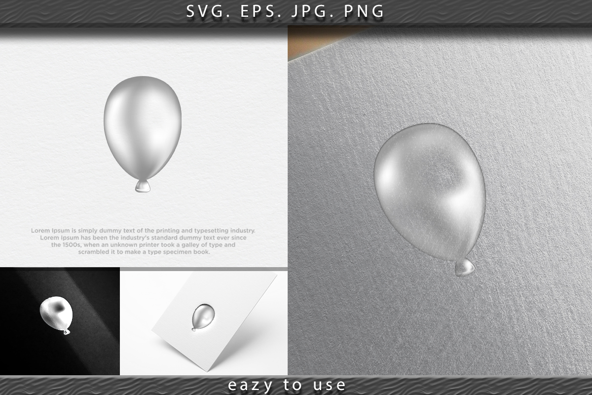 Download Free Balloon White Vector Illustration Graphic By Ojosujono96 for Cricut Explore, Silhouette and other cutting machines.