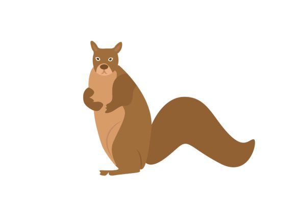 Download Free Brown Rabbit Stand Animal Graphic By Archshape Creative Fabrica for Cricut Explore, Silhouette and other cutting machines.