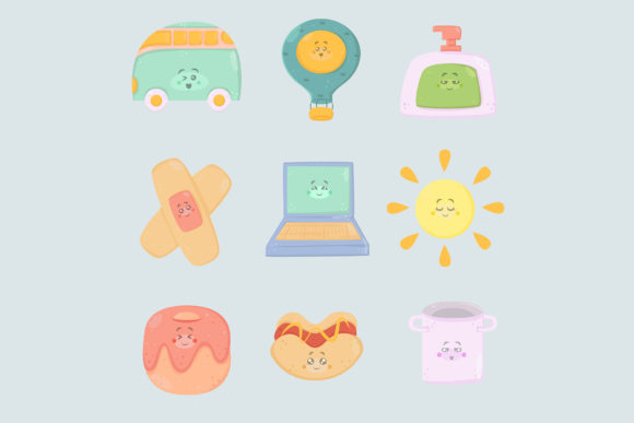 Cute Stickers Icon Hand Drawn Doodle (2) Graphic Illustrations By aprlmp276