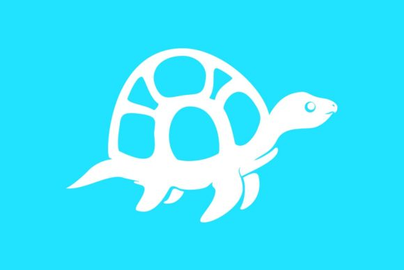 Download Free Funny Or Cute Turtle Silhouette Graphic By Artpray Creative for Cricut Explore, Silhouette and other cutting machines.