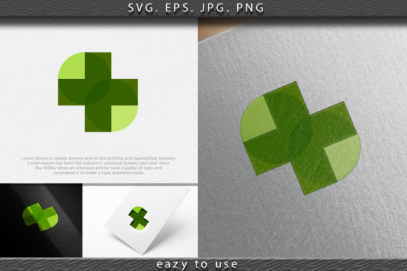 Download Free Medical Leaf Logo Ideas Inspiration Log Graphic By Ojosujono96 for Cricut Explore, Silhouette and other cutting machines.