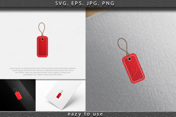 Print on Demand: Red Blank Prize Tags Label Icon. Vector Graphic Logos By ojosujono96