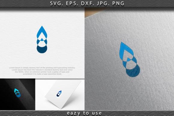 Download Free Water Drop Mineral Negative Space Logo Graphic By Ojosujono96 for Cricut Explore, Silhouette and other cutting machines.