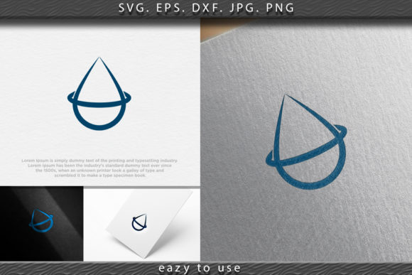 Download Free Water Drop Wave Mineral Pure Logo Ide Graphic By Ojosujono96 for Cricut Explore, Silhouette and other cutting machines.