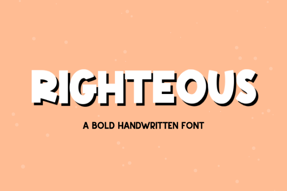 Print on Demand: Righteous Script & Handwritten Font By Sage Makers